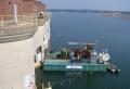 Gate cable exchange at Lake Murray Dam